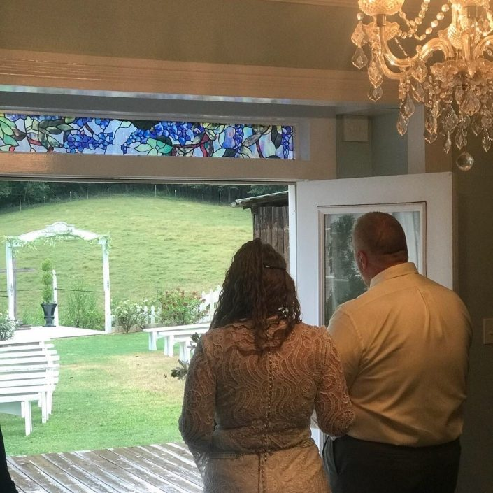 garden mountain wedding