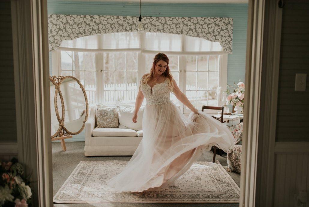 sunroom bridal suite wedding glow