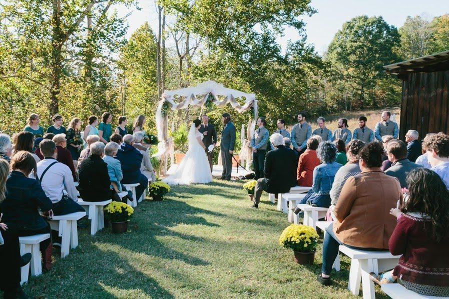 Mountain wedding, Appalachian Bride, Destination Wedding, Wedding North Carolina, Wedding Reception, Ceremony, North Carolina Wedding, Bride, Fall Wedding, Lake Lure Wedding, Chimney Rock Wedding, Asheville North Carolina Wedding