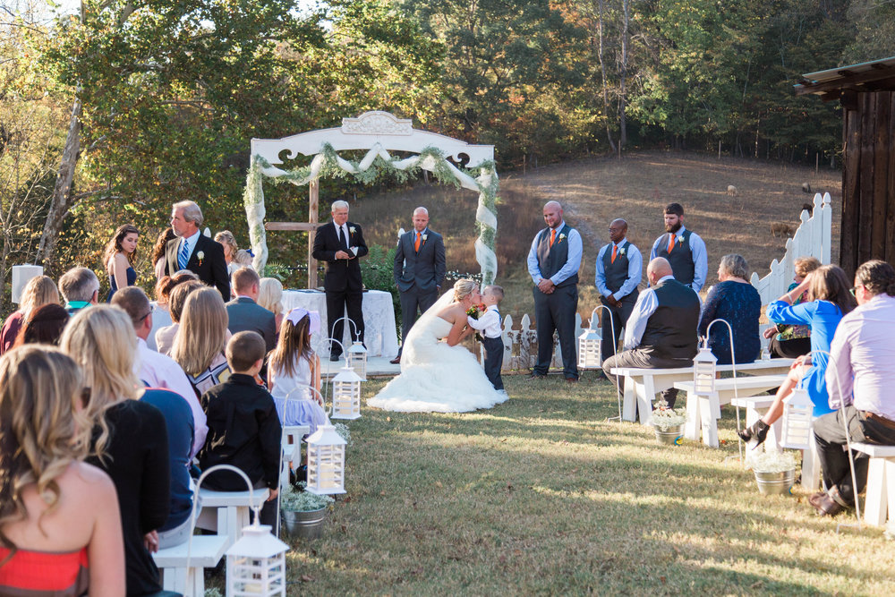 wnc wedding, lake lure, fall