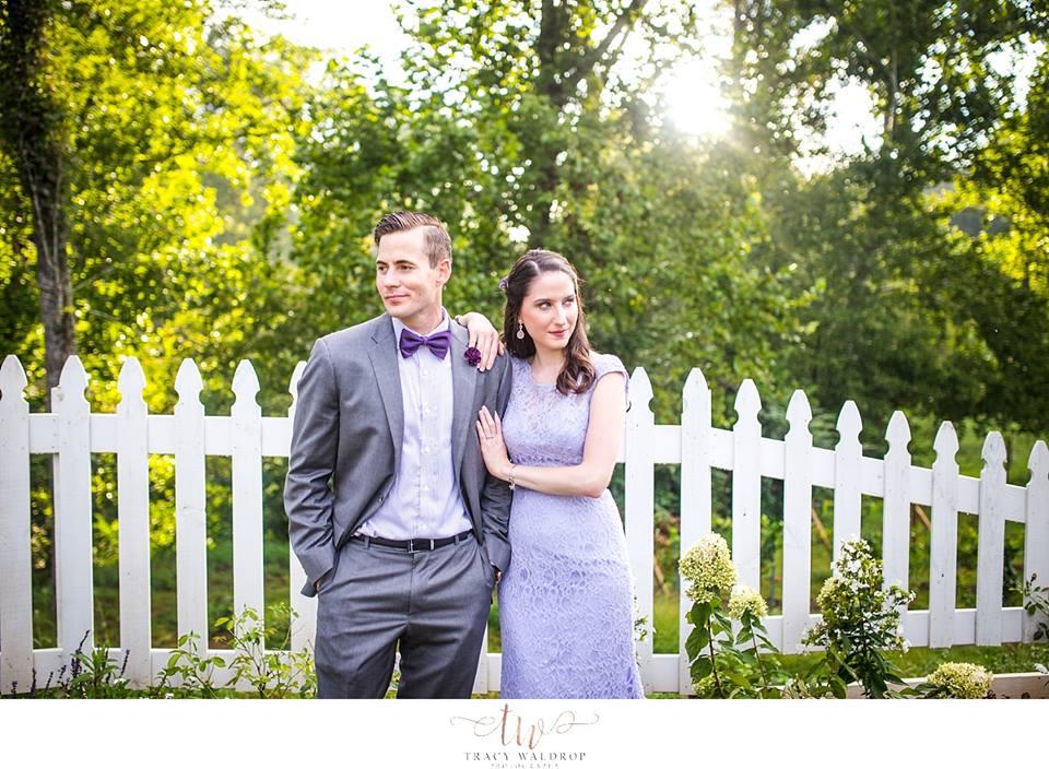lilac spring wedding