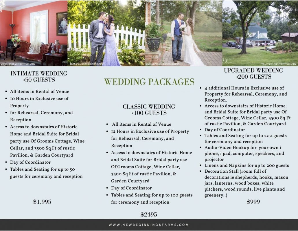 DIY wedding packages